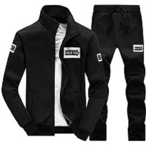 D752019秋季新款男士休闲运动套装青少年学生两件套男士外套潮