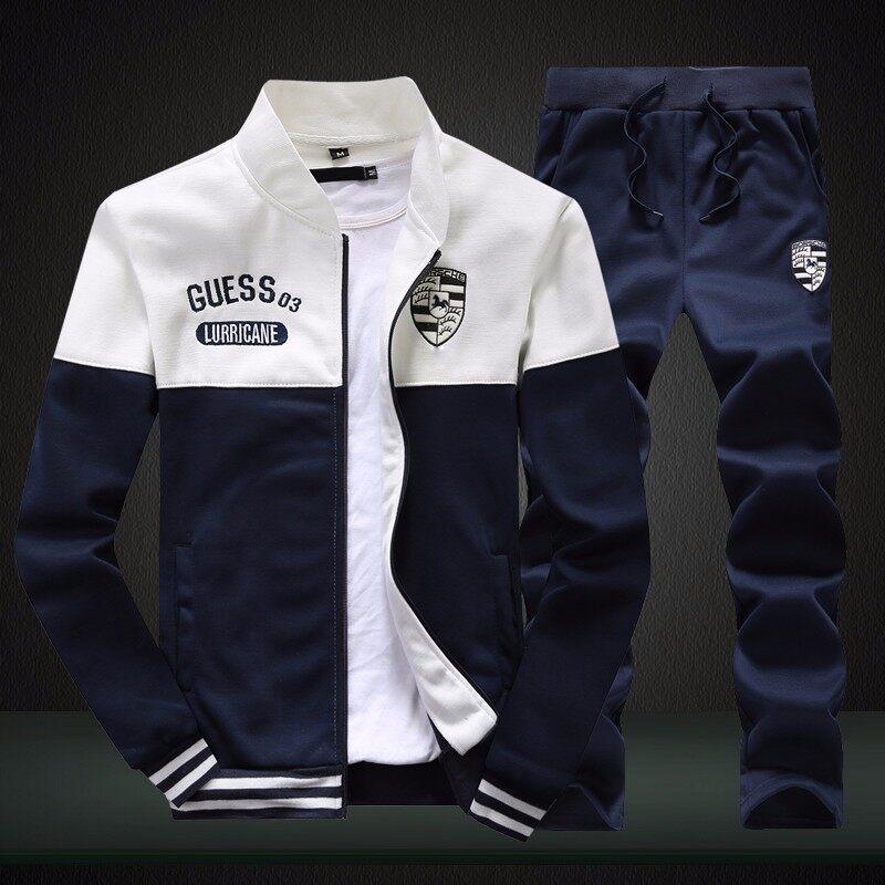 D102019秋季新款运动套装男春秋青年学生跑步情侣运动棒球服