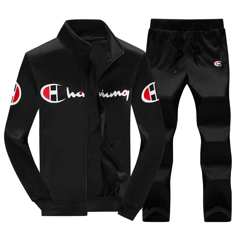跨境专供秋季新款休闲运动套装男韩版长袖卫衣外套裤子两件套男装