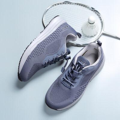 中老年健步鞋安全老人鞋爸爸鞋妈妈鞋防滑透气轻便网面休闲运动鞋