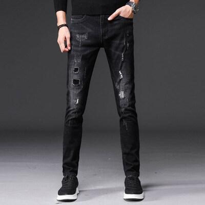 时尚潮牌 牛仔长裤 1822 黑色 6套图+视频