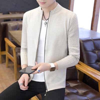 毛衣男针织衫开衫春秋季长袖线衫韩版修身潮流款线衣薄款外套881