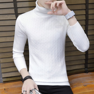 男士高领毛衣男修身秋冬季新款休闲冬季针织衫帅气打底衫887-1