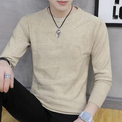 春秋季新款圆领男士毛衣韩版潮流休闲针织衫修身帅气个性外套818