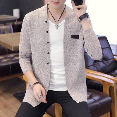 针织开衫男青年春秋新款韩版潮流毛衣外搭线衫修身帅气男外套880