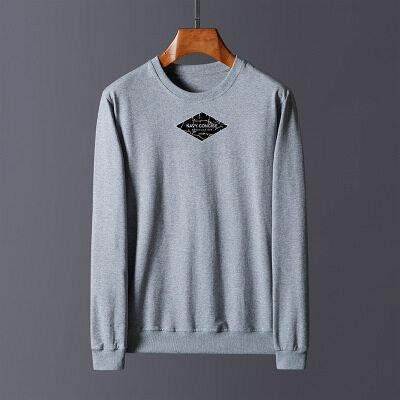 大码M-5XL高品质95棉5氨纶圆领卫衣吉普盾T恤针织衫