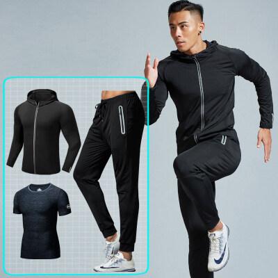 健身服男套装运动速干衣紧身衣训练服跑步篮球装备晨跑健身房来季