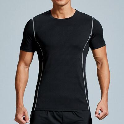 健身短袖男宽松 夏季速干跑步T恤吸汗透气户外薄款体恤运动上衣