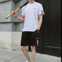 夏季宽松套装2021新款纯棉T恤短袖套装两件套休闲仿棉短裤