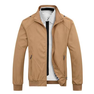 男士外套春秋季2021新款韩版潮流男春装上衣立领夹克
