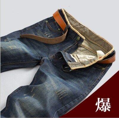 男士修身直筒牛仔裤青少年韩版男裤休闲男装中腰长裤子潮一件代发