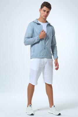 夏季户外大码速干冰丝防晒服男士短款薄外套透气防紫外线皮肤风衣