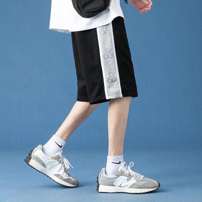 男士短裤2021夏季新款裤子五分裤宽松透气潮牌休闲裤运动裤