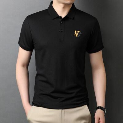 2021年轻商务新款桑蚕丝POLO衫