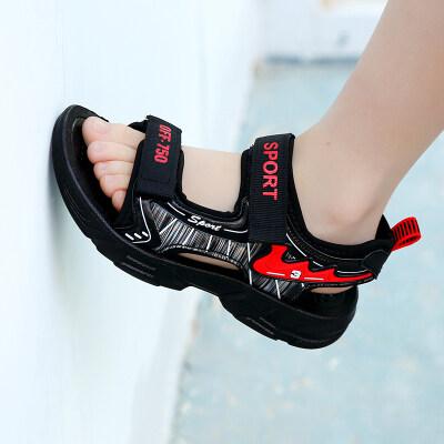 男童鞋凉鞋2021新款实心软底防滑中大童鞋子儿童沙滩鞋9岁