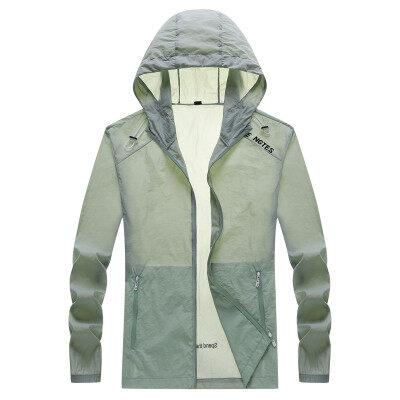 男士防晒衣冰丝夏季皮肤衣2021新款超薄款透气夹克衫风衣服