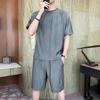 夏季运动套装男士短裤2021