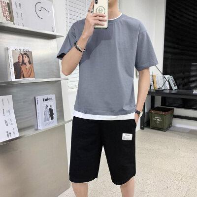 夏季运动套装男士五分裤2021