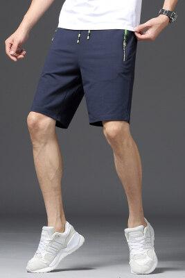 日系针织灰色纯色短裤男运动宽松休闲五分裤子夏季
