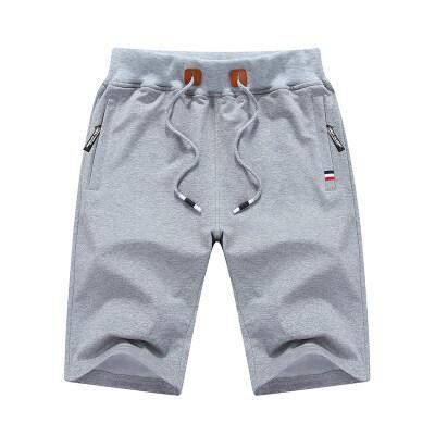 日系潮牌针织灰色纯色短裤男运动宽松休闲五分裤子夏季