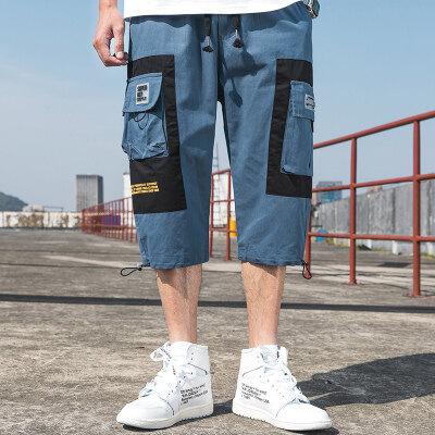 2020夏季天台七分工装裤百搭工装裤多口袋新款潮A07-2