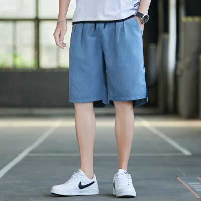 夏季新款男士休闲宽松版雪花绒短裤