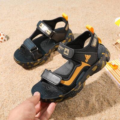 儿童凉鞋2021爆款沙滩鞋中童小童大童鞋子不开胶魔术贴迷彩童