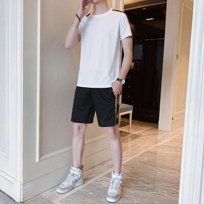 运动套装男夏季2021新款夏装潮流短袖衣服夏天男士休闲套装