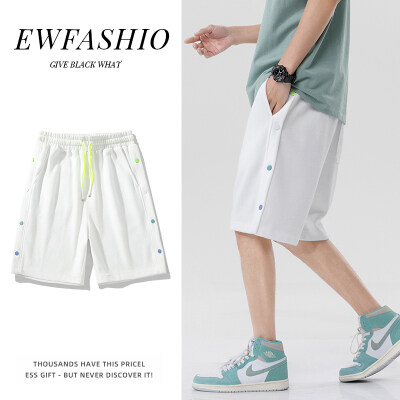 潮牌日系男士短裤潮外穿夏季薄款休闲运动五分裤宽松