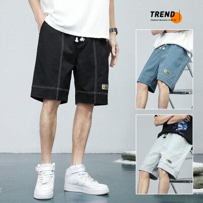 短裤男士2021夏季新款潮牌薄款宽松休闲五分裤港风韩版潮流运