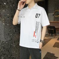 夏季Polo衫短袖T恤大码休闲宽松翻领青年打底衫上衣