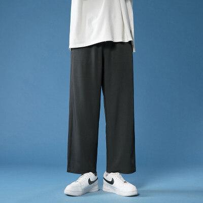 休闲裤男夏季新款潮流百搭直筒长裤青少年夏天薄款透气宽松哈伦裤