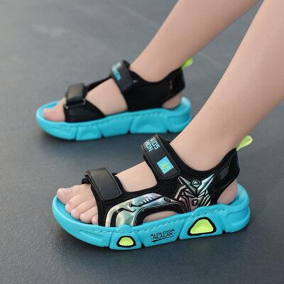 男童沙滩鞋中大童小孩按摩底厚底凉鞋小童夏季软底宝宝3-13岁