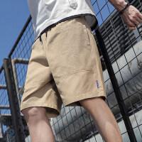 大码纯棉短裤男五分裤夏季休闲宽松七分裤中裤子男士大裤衩沙滩裤