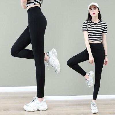 鲨鱼裤打底裤女春秋2021年新款大码提臀高腰瑜伽裤子健身长裤