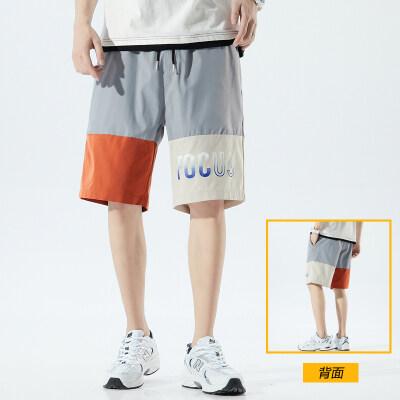 042153男士短裤夏季薄款潮流五分裤子宽松闲健身运动裤男