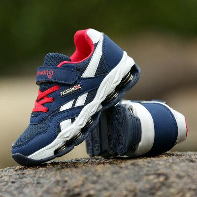 丘特熊儿童鞋子男童运动鞋新款透气学生中大童12弹簧跑步鞋