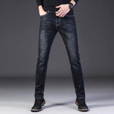 秋冬季弹力厚款男士商务牛仔裤809