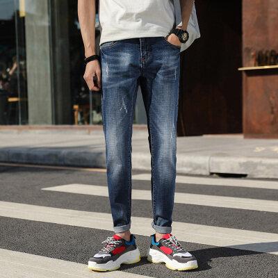 新款时尚牛仔弹力修身款弹力牛仔长裤潮流时尚款