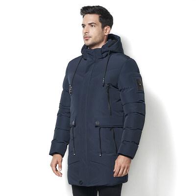 2018冬季欧美风大码中青年长款棉衣保暖防风御寒外贸外套跨境