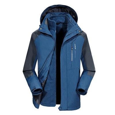 冲锋衣两件套三合一可拆卸加绒加厚户外男女秋冬