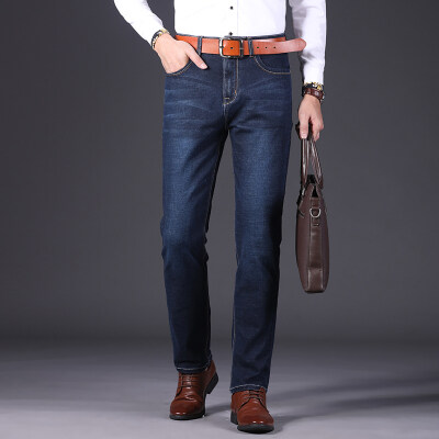 春夏款男士牛仔裤男裤子宽松直筒大码商务休闲牛仔长裤