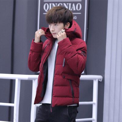 棉衣男士外套冬季2018新款羽绒棉服韩版帅气加厚棉袄潮流衣服