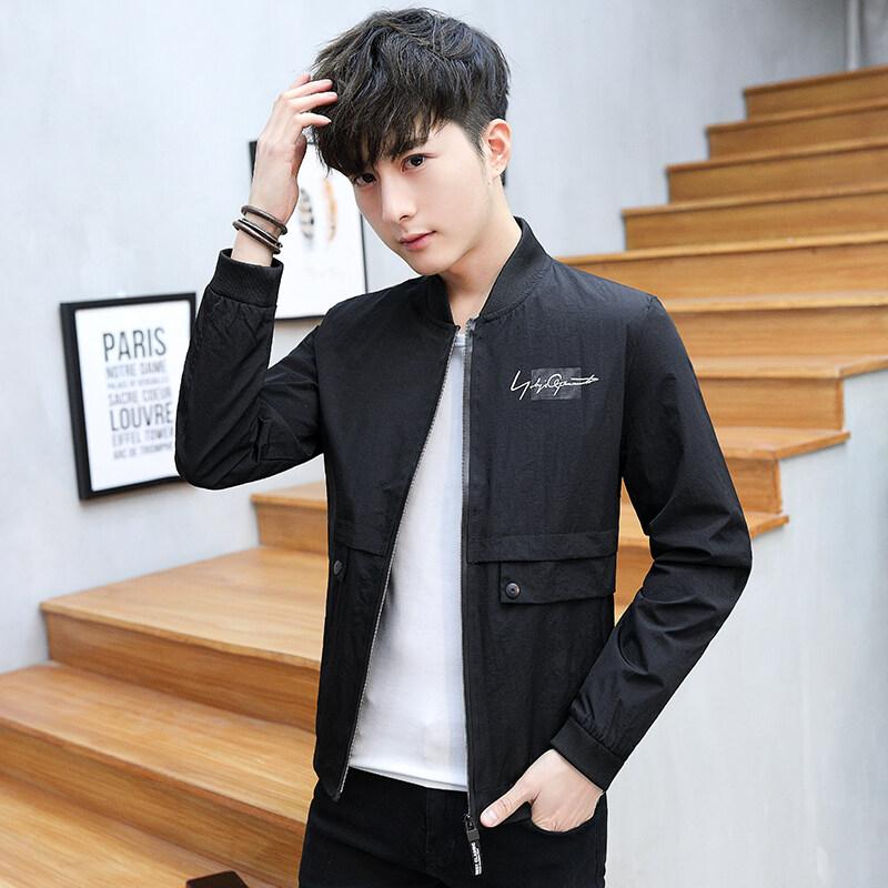 外套男春秋季韩版潮流修身帅气薄款夹克2020新款休闲学生男士