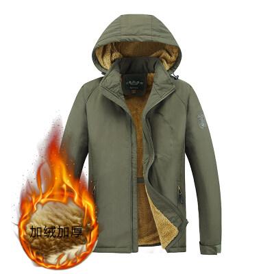 加绒加棉户外夹克保暖加绒风衣跨境货源
