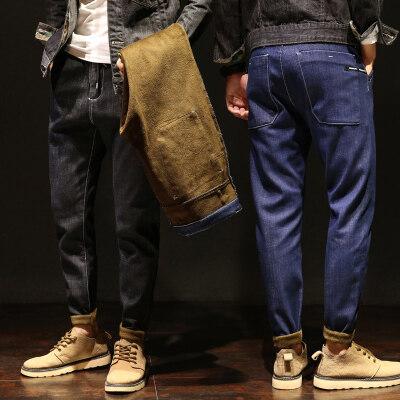加绒哈伦牛仔裤 Y823加绒  蓝色 黑色