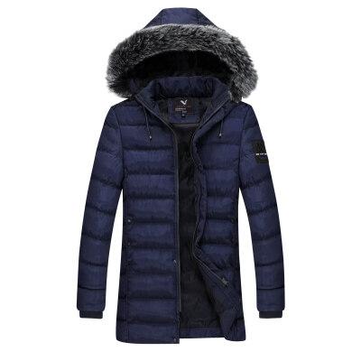 2018冬季保暖棉衣男士棉服夹克青年棉服长款棉衣外套大码