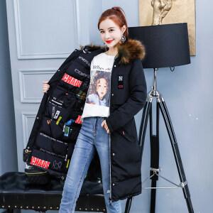 冬季女装棉衣时尚中长款双面穿棉袄开衫连帽保暖外套女装长款夹克