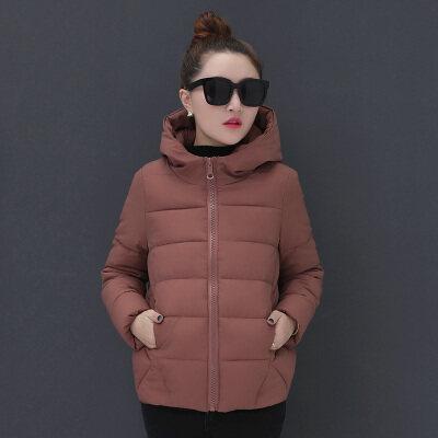 图荣羽绒棉服女短款冬装新款韩版连帽保暖棉衣外套棉袄女一件代发