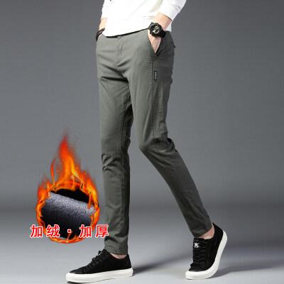 加绒休闲裤 8807加绒 黑色 军绿 灰色(常规款8807厚)
